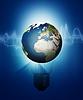 Abstrakter Technologie und Umwelt Hintergründe | Stock Illustration