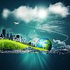 Abstrakt Ökosystem Hintergründe unter blauem Himmel | Stock Foto