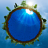 Grüne Welt, Umwelt-Konzept | Stock Illustration