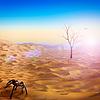 Das Leben nach Menschlichkeit, abstrakte Umwelt | Stock Foto