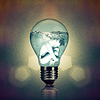 New Power Generation, anstract Umwelt | Stock Foto
