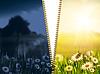 Tag und Nacht. Natürliche Hintergründe mit Schönheit | Stock Foto