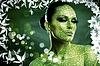 ID 3916573 | Leaf. Abstrakt weibliches Portrait mit natürlichen | Foto mit hoher Auflösung | CLIPARTO