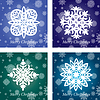 Collection of handmade snowflakes | Stock Vector Graphics