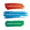 Farbtinte Streifen von Farbflecken | Stock Vektrografik