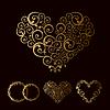 Maßwerk Hochzeit Liebe Herz | Stock Vektrografik