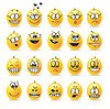 Smiley emotions moods | Stock Vector Graphics