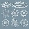 Letrero étnico estilizada | Ilustración vectorial