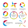 abstrakten runden farbigen Logos