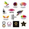 Sammlung von Logos für Kosmetik-und Körperpflegeprodukte | Stock Vektrografik