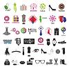 Reihe von Logos für Kleidung und Mode-Accessoires