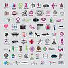 größte Sammlung von Logos von Mode-Accessoires