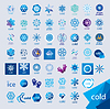 größte Sammlung von Logos Kälte und Frost