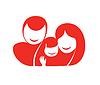 Glückliche Familie | Stock Vektrografik