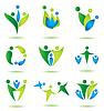 Glückliche Familie Ikonen-Sammlung, logo deisgn | Stock Vektrografik