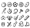 Sportgeräte Icons