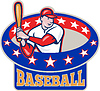 Amerikanischen Baseballspieler Cartoon