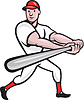 Baseballspieler Cartoon