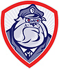 Cartoon Police Dog Watchdog Bulldog Schild