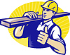 ID 3959959 | Carpenter Builder Worker Thumbs Up | Stock Vektorgrafik | CLIPARTO