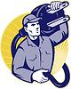 ID 3960059 | Elektriker Arbeiter Halten einen elektrischen Stecker | Stock Vektorgrafik | CLIPARTO