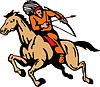 American Indian Riding Pferd Pfeil und Bogen