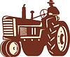 Bauer Fahren Vintage Tractor Retro