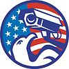 Amerikanischer Weißkopfseeadler Überwachungskamera