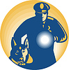 Security Guard Polizist Police Dog