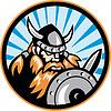 Viking Raider Barbarian Krieger Retro