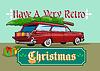 Retro Weihnachtsbaum Station Wagon