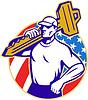 Schlosserei gedrückt mit American Flag