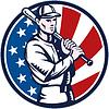ID 3962017 | Baseball-Spieler mit Schläger american flag | Stock Vektorgrafik | CLIPARTO