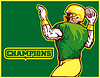 American Football-Spieler Quarterback Champion
