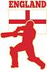 Kricket trägt England Flagge