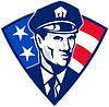 Amerikanischen Polizeibeamtestreifenpolizist Sicherheit