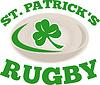 ID 3964059 | St. patrick `s Rugby-Ball Kleeblatt | Illustration mit hoher Auflösung | CLIPARTO