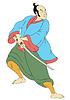 ID 3964399 | Samurai-Krieger mit Katana Schwert Kampfstellung | Illustration mit hoher Auflösung | CLIPARTO