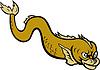 Weltsart Monster Fisch oder Aal