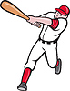 Baseballspieler Cartoon-Stil