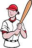 Baseballspieler Cartoon-Stil