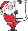 Weihnachtsmann-Holding Scroll-Liste