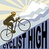 Radfahrer Rennrad bis steilen Berg