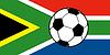 flag Süd Afrika mit Fußball Fußball-Ball
