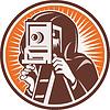 Fotograf mit Jahrgang Kamera