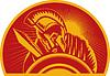 ID 3968807 | Römischer Soldat oder Gladiator mit Schwert und Schild | Stock Vektorgrafik | CLIPARTO