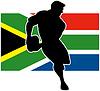 running Spieler Flagge von Südafrika