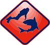 Scared Taucher und Hai angegriffen