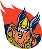 ID 3969509 | Viking warrior lub nordyckiego boga | Klipart wektorowy | KLIPARTO