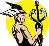Hermes oder Quecksilber mit Caduceus
